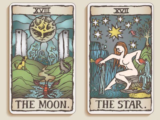 Таро Луна — старший аркан, её порядковый номер 18