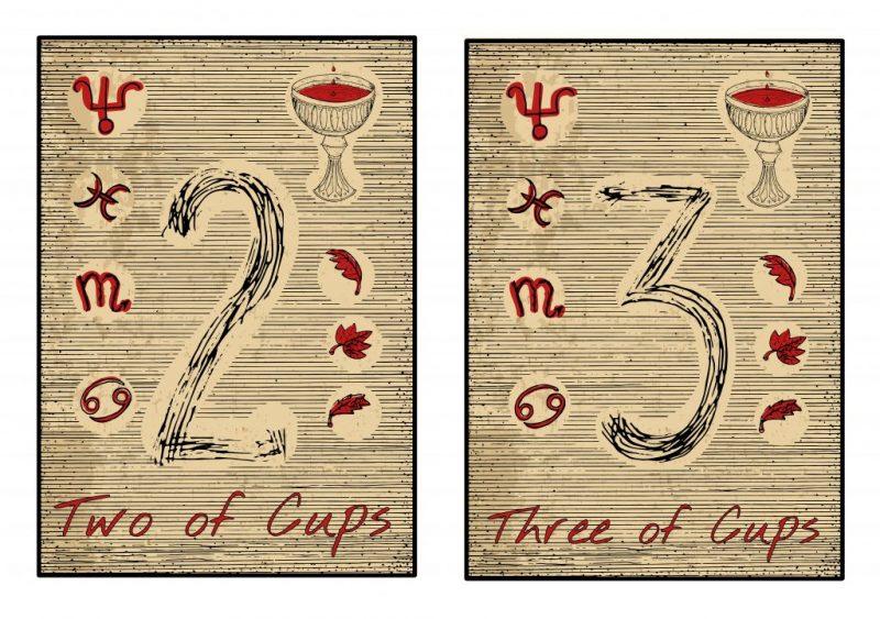 Тройка Кубков значение карты Таро в любви отношениях и работе